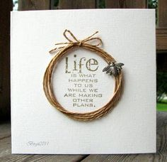 twine - clean and simple. :) Just add your favorite quote/verse or message! <3 Would be lovely framed!