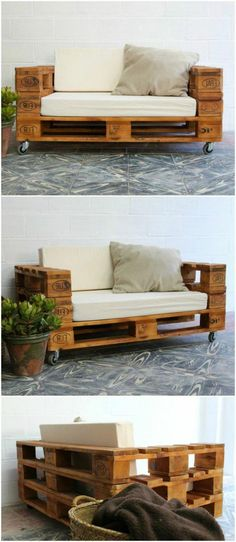 Pallet sofa with wheels. Sofa made with pallets. Furniture with pallet tables. Pallet furniture Pallet sofa with wheels and glass. Sofa made with pallets. Furniture with pallet tables. Furniture of pallets. Pallet Furniture Designs, Wooden Pallet Furniture, Wooden Pallets, Diy Furniture, Furniture Stores, Outdoor Palette Furniture, Euro Pallets, 1001 Pallets, Pallet Designs