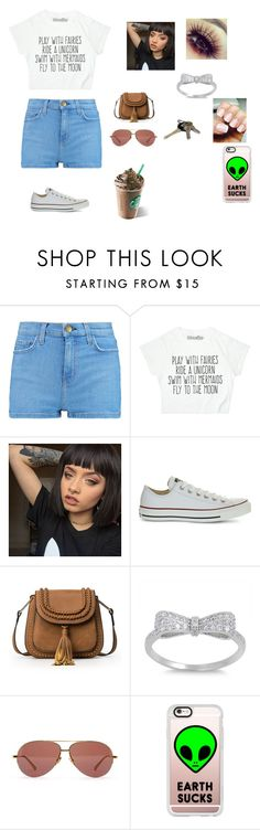"""""""Mall with the girls #starbuckslife"""" by bri6903-ss on Polyvore featuring Current/Elliott, Converse, Linda Farrow and Casetify"""