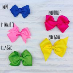 bow collection// bow bundle// 10 bows// baby by LilaReneeCreations