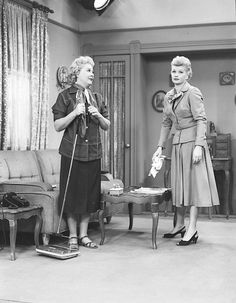 Lucille Ball & Vivian Vance - I Love Lucy production still
