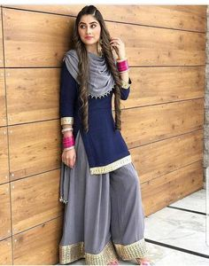 Items similar to navy blue colore designer suit bollywood style salwar kameez pakistani style salwar kameez plazzo dress on etsy. Punjabi Dress, Pakistani Dresses, Indian Dresses, Western Dresses, Western Outfits, Patiala Suit Designs, Kurti Designs Party Wear, Designer Punjabi Suits, Indian Designer Wear