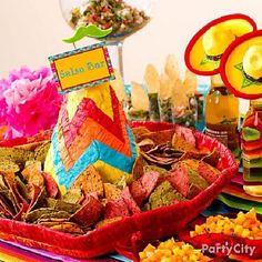 Cardápio e decoração - Festa Mexicana