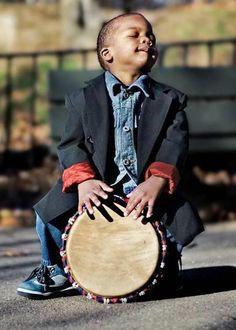 ♥ boy with tambourine