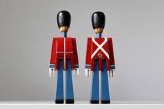 Pair of Kay Bojesen Danish Soldiers // Danish Modern Toy Soldiers // Mid-Century Toys