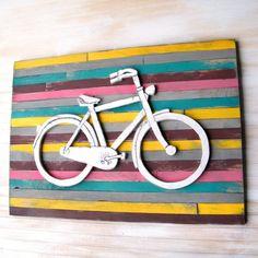 Bicycle nursery wall art