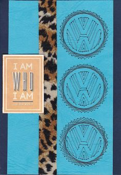 Like VW cars? stitched VW logo- animal print ribbon - Kaisercraft sentiment
