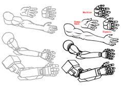 how to draw mecha, draw anime robots step 8