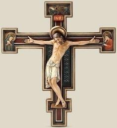 Roman Inc 60446 - Resin San Damiano Byzantine Wall Cross Crucifix 10 1/4 Inch