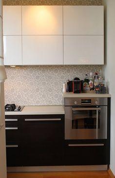 petite cuisine, meubles dissociés, très bel effet