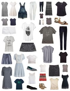 Here are my 37 pieces for Summer 2015! Yay for July 1 and the first day of a new season in my capsule wardrobe calendar.