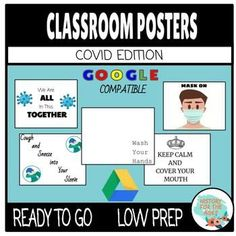 Classroom Signs: COVID 19 Edition is designed for success in middle school, high school, or elementary school. This activity inclpudes signs to help students grow in their mindset on the topic of Covid 19. Helpful Posters