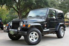 2000 Black Sahara - Great Entry Level Wrangler - 5-Speed Manual, 4.0L, 104k Miles, Hard Top, $12,988. http://www.selectjeeps.com/inventory/view/7267613?2000+Jeep+Wrangler+2dr+Sahara+League+City+TX