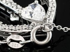 Remy Rotenier For Bella Luce (R) 4.07ctw Rhodium Plated Sterling Silver Anchor Pendant With Chain