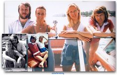 Abba photographed in Benny's new boat during the summer of 1978... #Abba #Agnetha #Frida http://abbafansblog.blogspot.co.uk/2017/08/abba-pictures_18.html