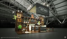 Exhibition stands by Aleksandr Kashin, via Behance