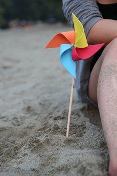 4 Adorable Pinwheels  Pinwheels SPIN in the by SummerSpinner