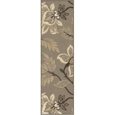 Designed with a transitional floral motif, the Nuance Lily Taupe Woven Area Rug from Orian Rugs brings the beauty of nature into any indoor space. Crafted from a woven polypropylene, this piece is simple to clean with a stain resistant fiber. Grey Rugs, Beige Area Rugs, Grey Runner, Runner Runner, Soft Colors, Trendy Colors, Neutral Colors, Floral Motif
