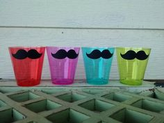 LIME Mustache Party Pack 50 set by theflutterfly on Etsy