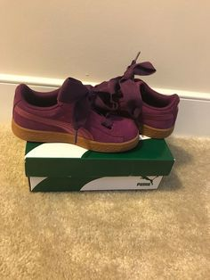 29a6ae5b4790 Puma Suede kids US size 1 Girls Purple ( Brand New ) Price Is Negotiable.