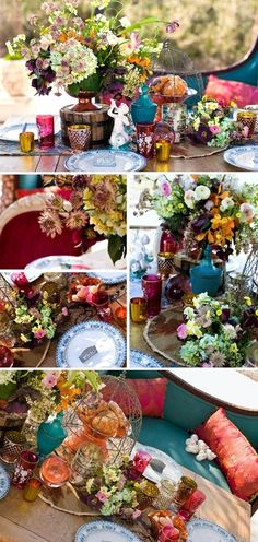 boho wedding! I love all the colors!!