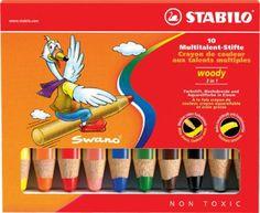 Stabilo - Woody 3 em 1 - lápis de cor, a cor da água e pastel em   boesner.com