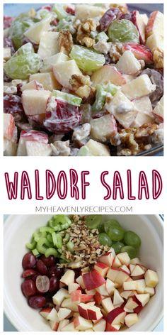 Celery Recipes, Apple Salad Recipes, Vegetarian Salad Recipes, Salad Recipes For Dinner, Salad Dressing Recipes, Healthy Recipes, Dinner Salads, Apple Grape Salad Recipe, Recipes For Apples