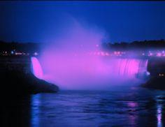Niagara Falls in pink