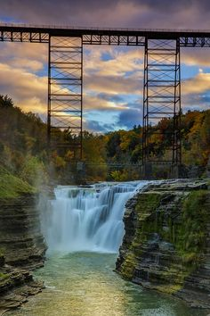 ✯ Sunset On The Upper Falls - Letchowrk State Park, NY