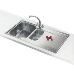 Franke Maris MRX 251 Slimtop Inset stainless steel kitchen sink RH Kitchen Sink, Stainless Steel, Taps, Sinks, Home Decor, Decoration Home, Sink Units, Room Decor, Vanity Basin