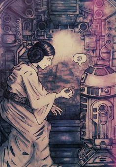 Take this. R2-D2 and Princess Leia.