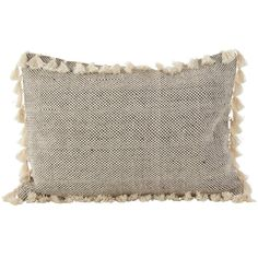 Moroccan Design Tassel Fringe Cotton Down Filled Throw Pillow - Saro Lifestyle cotton pillow from Saro Lifestyle features a textured front surrounded by thick, swingy tassels that will add just the right amount of personality to any arrang Modern Throw Pillows, Decorative Pillows, Black Pillows, Accent Pillows, Modern Boho, All Modern, Moroccan Decor Living Room, Farmhouse Mantel, Down Throw