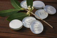 10 Wedding favors, personalized bubble glass gem keepsake souvenirs, set of 10