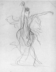 John Singer Sargent, Study for El Jaleo, c. 1879-82 on ArtStack #john-singer-sargent #art