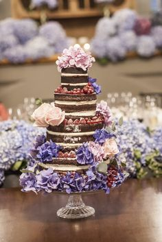 """Naked cake featured on """"Wedding Cake Trends"""" now on the Atelier Backstage blog!"""