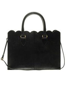 black scallop bag