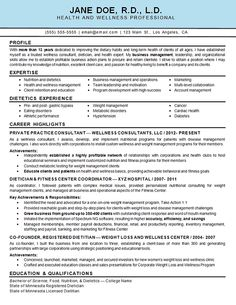 Health Wellness Resume Example