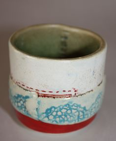 Stitched cup by Susan Sander  www.mypotterystudio.co.za