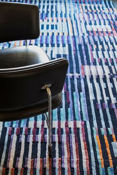 FRONT handtufted rug is inspired the optical experiments of Israeli artist Yaacov Agam (b. and American artist Ricard Anuszkiewicz (b. Yaacov Agam, American Artists, Bauhaus, Taupe, Mid Century, Rug, Texture, Inspired, Pattern