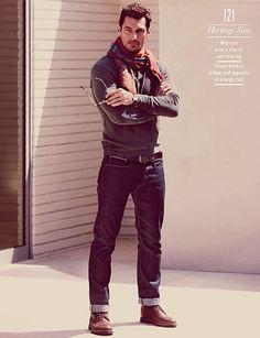 David Gandy | Lucky Brand Fall/Winter 2012-13 Lookbook by Alasdair Mclellan