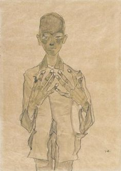 Standing Boy with Hands on Chest, 1910 | Egon Schiele | The Morgan Library & Museum