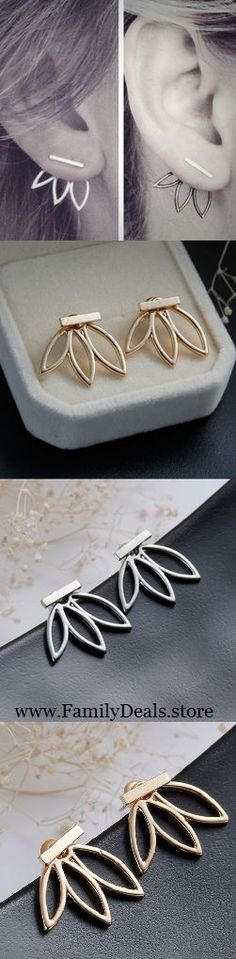 Only $11.99 + Free US Shipping! Hollow Leaf Flower Stud Earrings. Buy yours today at sale price from www.FamilyDeals.store