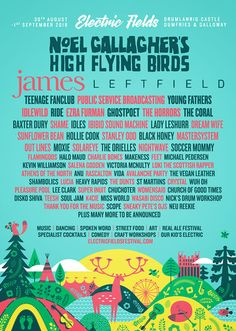 All about Electric Fields and all the best music festivals around the world, including news, lineups, locations and tickets! Castle Noel, Baxter Dury, Lady Leshurr, Teenage Fanclub, Uk Festivals, Conference Branding, Young Fathers, Electric Field