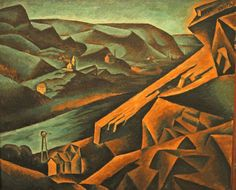 Bohumil Kubišta, Quarry in Braník,  1910, 86 x 101 cm, NG in Prague