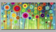 Flowers-Paintings-Wall-Art-Prints-Split-Extra-Large-3-amp-4-amp-5-Panel-Canvas-Picture