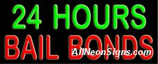 "24 Hours Bail Bonds Neon Sign-10508-5088  13"" Wide x 32"" Tall x 3"" Deep  110 volt U.L. 2161 transformers  Cool, Quiet, Energy Efficient  Hardware & chain are included  6' Power cord  For indoor use only  1 Year Warranty/electrical components  1 Year Warranty/standard transformers"
