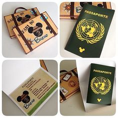 Convites Maleta com passaporte para o Safari do Mickey!!! #convites #mickey…
