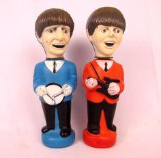 Vtg 1965 The Beatles Ringo Starr & Paul McCartney Soaky Bubble Bath Bottles…