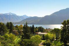The view from Casa del Portico on Lake Como in Mezzegra, Italy.