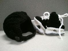 Hockey Skates and Hemet, NHL Hockey Gear, Hockey Mom, Baby shower Gift, Photo Prop. $26.00, via Etsy.